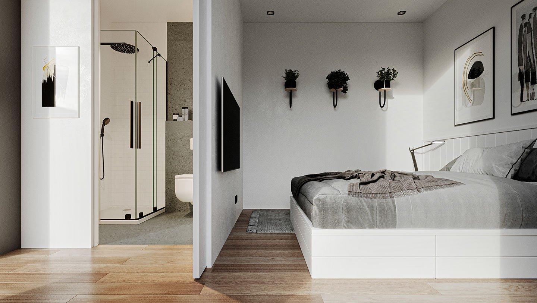 Model L - Interieur slaapkamer