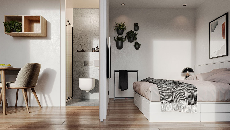TuinstudioModel M - Slaapkamer en badkamer